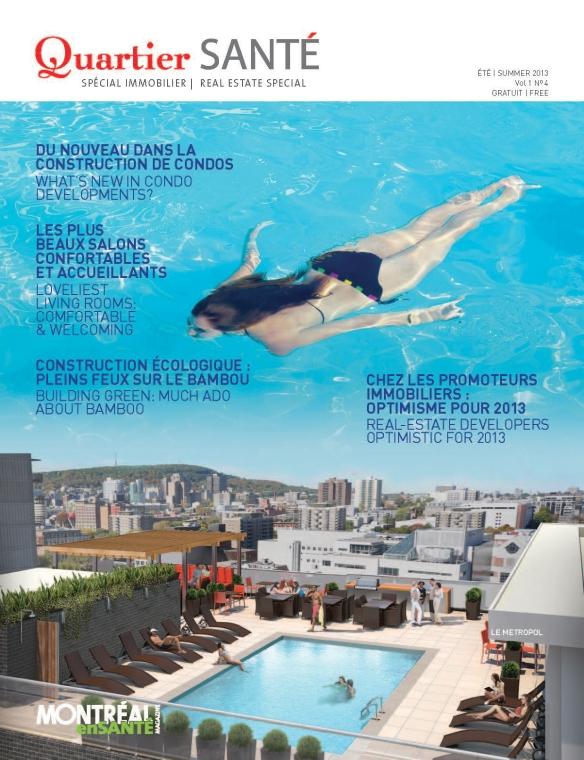 Quartier SANTÉ cover.  Été 2013