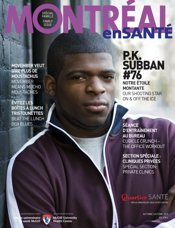 P.K. Subban - MES Fall cover 2013